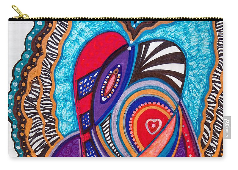 Heart Carry-all Pouch featuring the painting Wondering What's Next - II by Laurel Rosenberg
