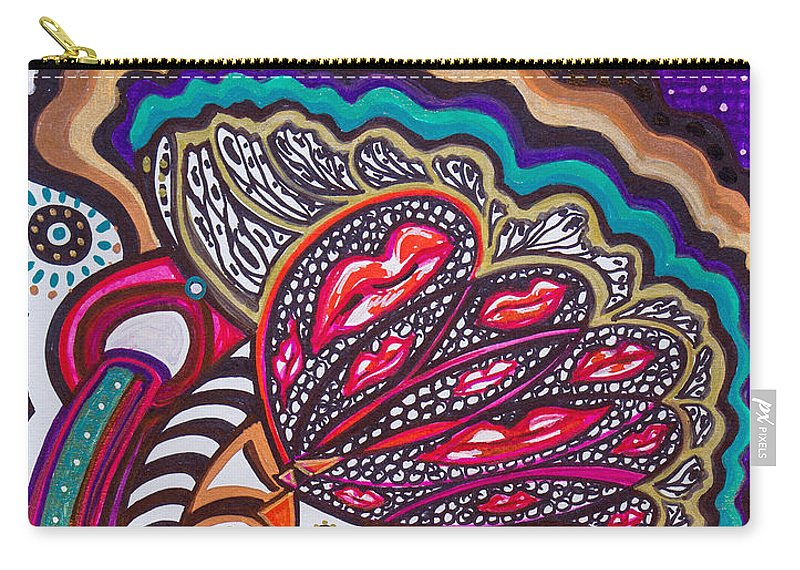 Heart Carry-all Pouch featuring the painting Wondering What's Next - Vii by Laurel Rosenberg