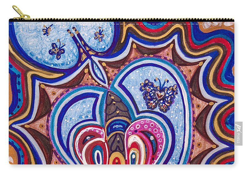 Heart Carry-all Pouch featuring the painting Wondering What's Next - Viii by Laurel Rosenberg