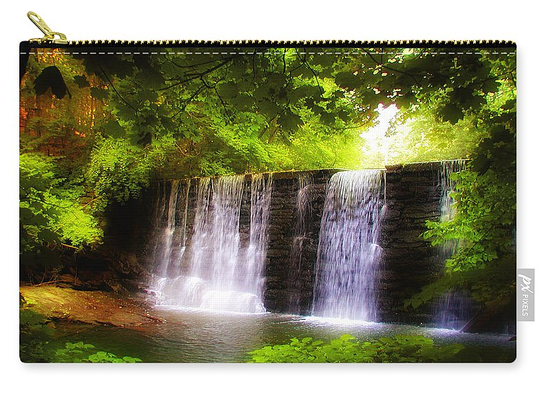 Philadelphia Carry-all Pouch featuring the photograph Wondrous Waterfall by Bill Cannon