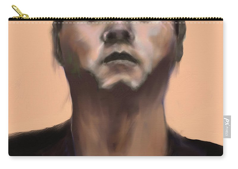 Figure Carry-all Pouch featuring the digital art Wong by Scott Bowlinger