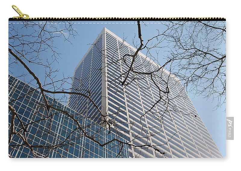 Architecture Carry-all Pouch featuring the photograph Wood And Glass by Rob Hans