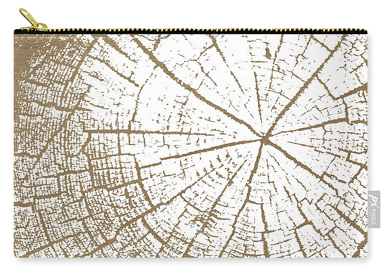 Tree Carry-all Pouch featuring the mixed media Wood And White- Art By Linda Woods by Linda Woods