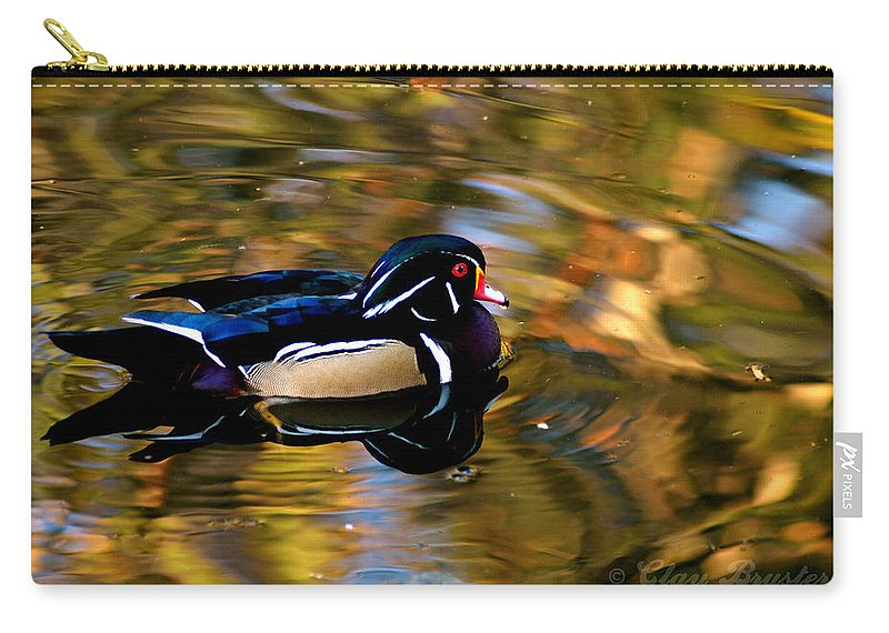 Clay Carry-all Pouch featuring the photograph Wood Duck by Clayton Bruster