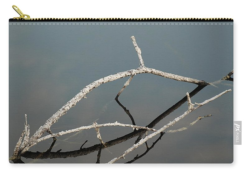 Blue Carry-all Pouch featuring the photograph Wood In The Water by Rob Hans