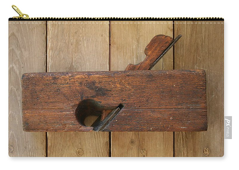 Tool Carry-all Pouch featuring the photograph Wood Plane 3 by Marna Edwards Flavell