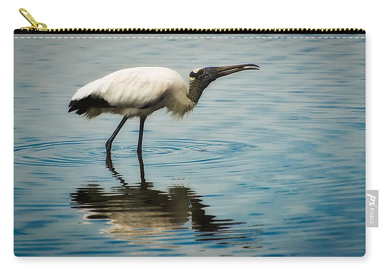 Stork Carry-all Pouch featuring the photograph Wood Stork by Rich Leighton