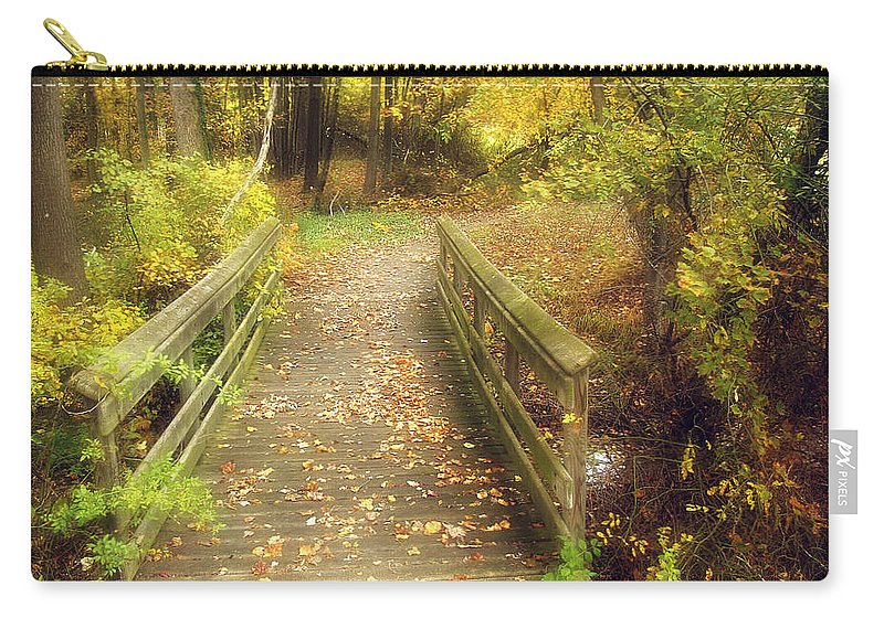 2d Carry-all Pouch featuring the photograph Wooden Bridge by Brian Wallace