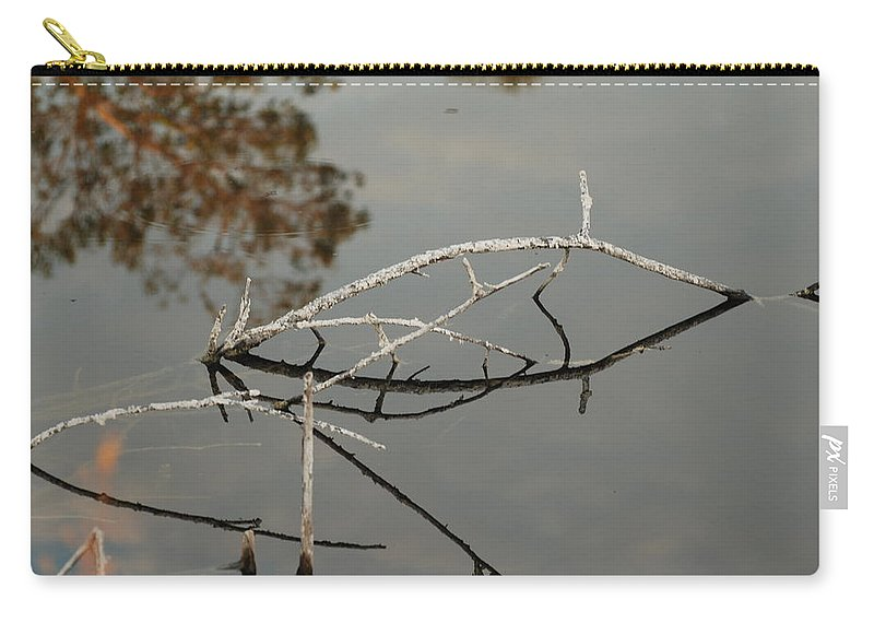 Pink Carry-all Pouch featuring the photograph Wooden Bridge In Color by Rob Hans