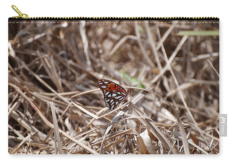 Butterfly Carry-all Pouch featuring the photograph Wooden Butterfly by Rob Hans