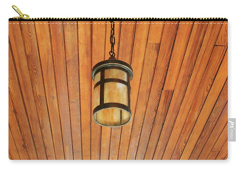 Wood Carry-all Pouch featuring the photograph Wooden Ceiling by Ric Bascobert