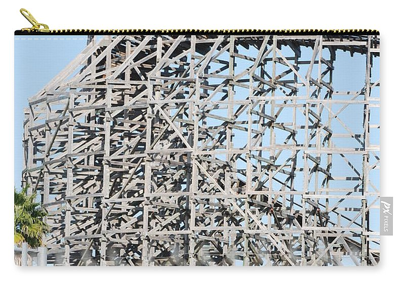 Pop Art Carry-all Pouch featuring the photograph Wooden Coaster by Rob Hans