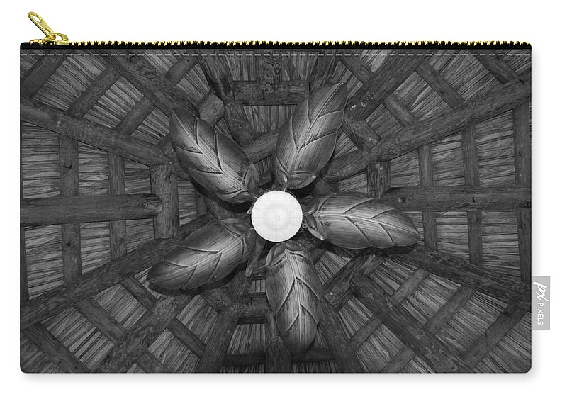 Fan Carry-all Pouch featuring the photograph Wooden Fan by Rob Hans