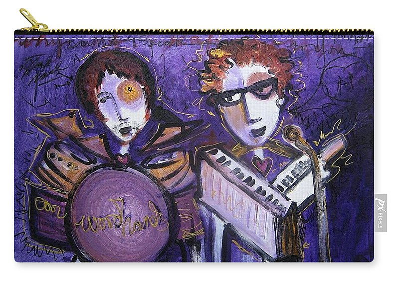 Laurie Maves Art Carry-all Pouch featuring the painting Woodhands At Monolith by Laurie Maves ART