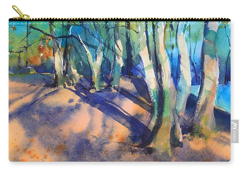Woodland Carry-all Pouch featuring the painting Woodland by Ibolya Taligas