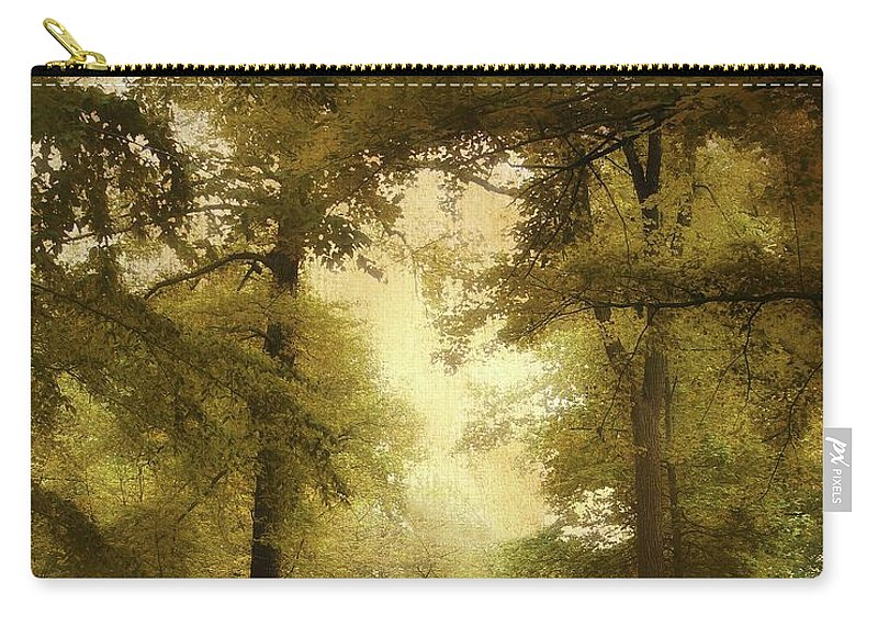 Woods Carry-all Pouch featuring the photograph Woodland Passage by Jessica Jenney