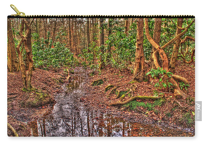 Stream Carry-all Pouch featuring the photograph Woodland Stream by Chris Day