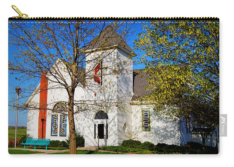 Church Carry-all Pouch featuring the photograph Woodlandville Methodist Church by Cricket Hackmann