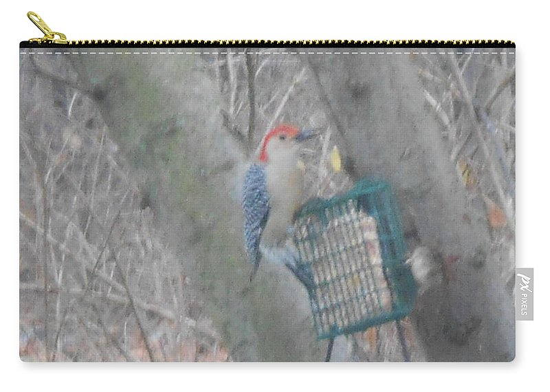 Woodpecker Carry-all Pouch featuring the photograph Woodpecker by Darlene Custer