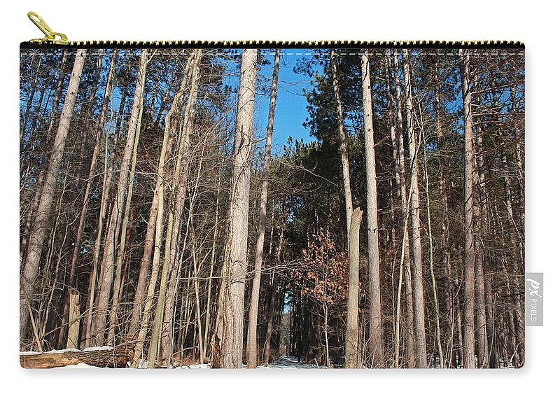 Tree Carry-all Pouch featuring the photograph Woods In Winter by Michiale Schneider