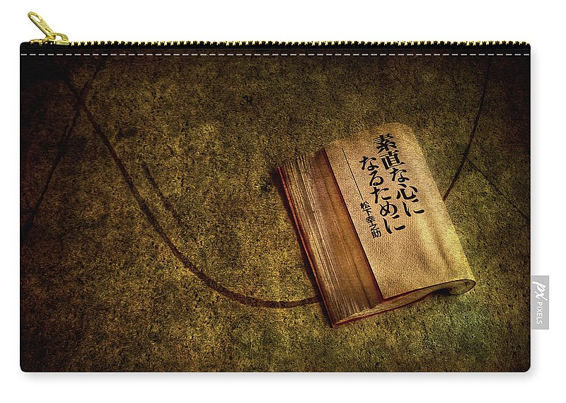 Book Carry-all Pouch featuring the photograph Words Of Wisdom by Evelina Kremsdorf