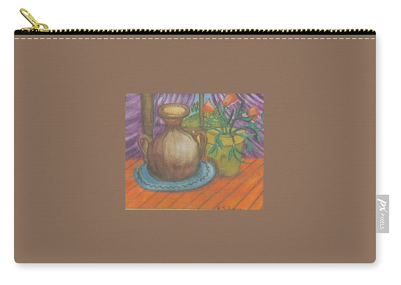 Still Life Carry-all Pouch featuring the painting Work by Andrew Johnson