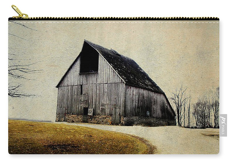 Barn Carry-all Pouch featuring the digital art Work Wanted by Julie Hamilton