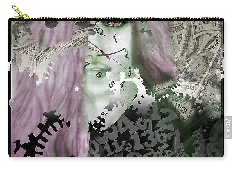 Work Carry-all Pouch featuring the digital art Working Girl by Larry Rice