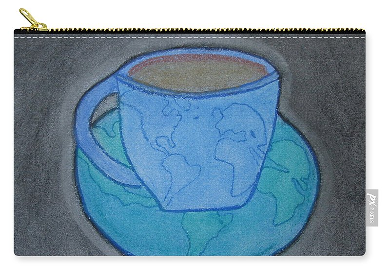 Cup Carry-all Pouch featuring the pastel World Cup by Laura Jordan