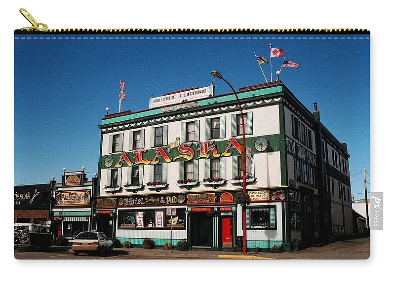 North America Carry-all Pouch featuring the photograph World Famous Alaska Hotel by Juergen Weiss