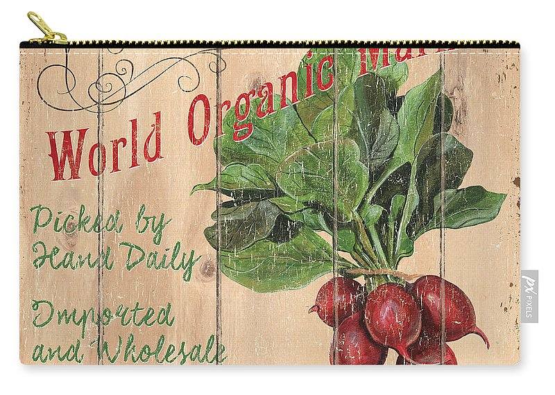 Market Carry-all Pouch featuring the painting World Organic Market by Debbie DeWitt