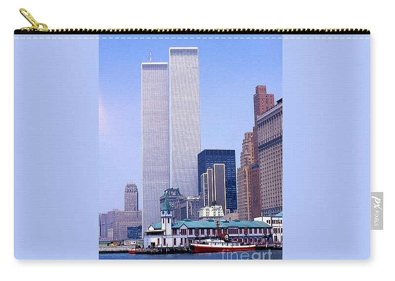 World Trade Center Towers Skyline Carry-all Pouch featuring the photograph World Trade Center by Bob Bennett