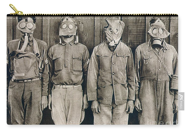 American Carry-all Pouch featuring the photograph World War I: Gas Warfare by Granger