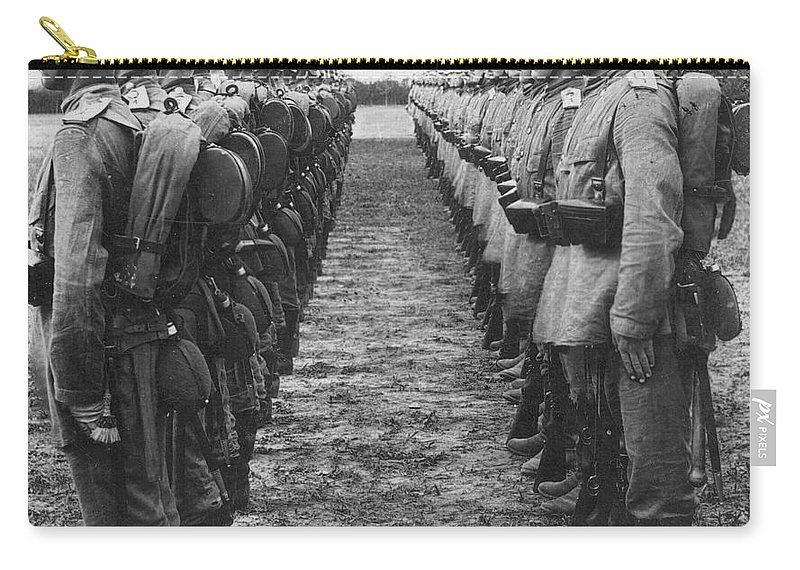 1914 Carry-all Pouch featuring the photograph World War I: German Troop by Granger