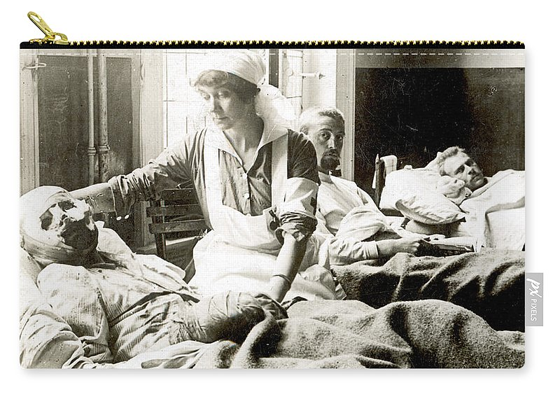 1914 Carry-all Pouch featuring the photograph World War I: Nurse by Granger