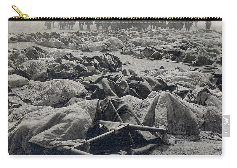 Casualty Carry-all Pouch featuring the photograph World War I: Russian Dead by Granger