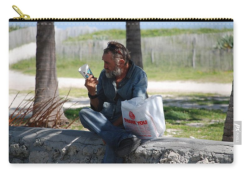 Man Carry-all Pouch featuring the photograph Worldly Posessions by Rob Hans
