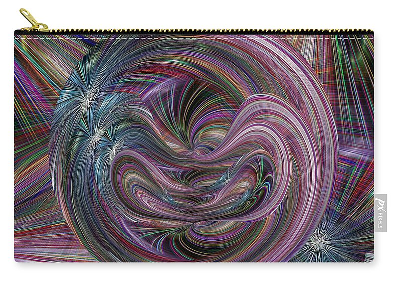 Abstract Carry-all Pouch featuring the digital art Worm Hole by Tim Allen