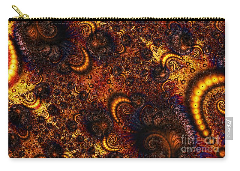 Clay Carry-all Pouch featuring the digital art Worm Infestation by Clayton Bruster