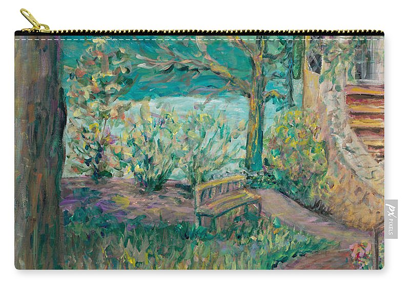 Big Cedar Lodge Carry-all Pouch featuring the painting Worman House At Big Cedar Lodge by Nadine Rippelmeyer