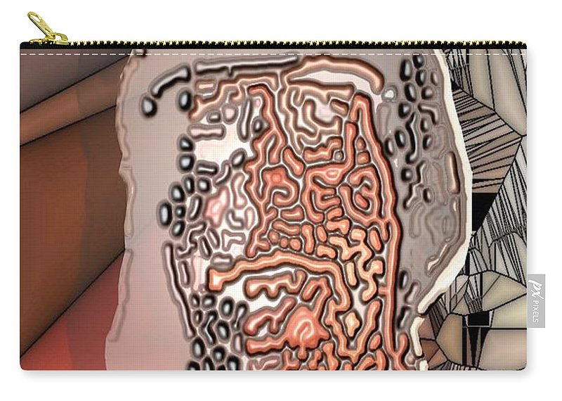 Collage Carry-all Pouch featuring the digital art Worman by Ron Bissett