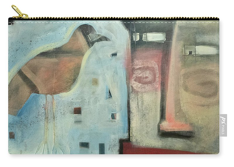 Man Carry-all Pouch featuring the painting Worth Two... by Tim Nyberg