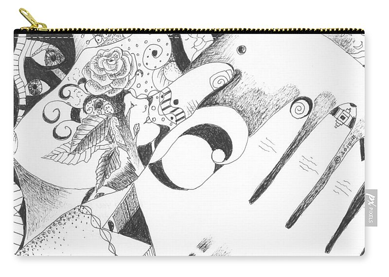 Healing Process Carry-all Pouch featuring the drawing Would You Believe by Helena Tiainen