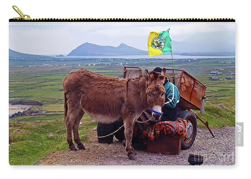 Fine Art Photography Carry-all Pouch featuring the photograph Would You Like A Ride In Ireland by Patricia Griffin Brett