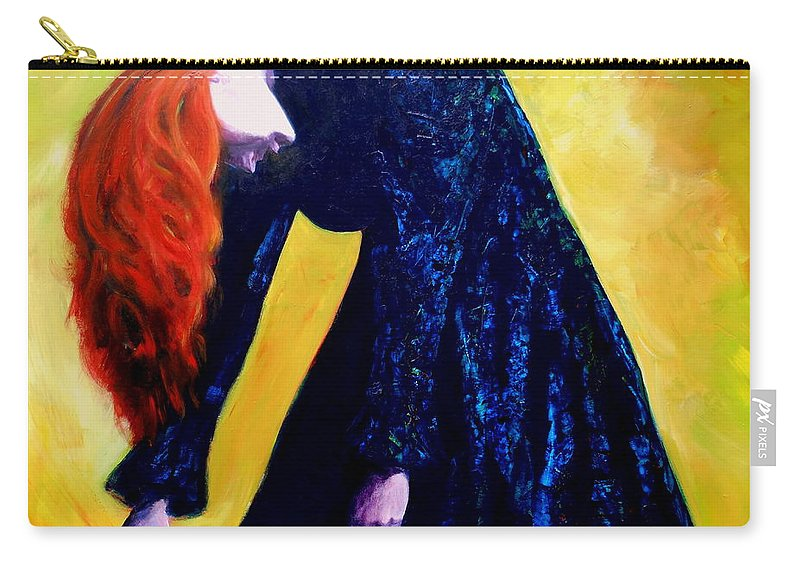 Acrylic Carry-all Pouch featuring the painting Wound Down by Jason Reinhardt