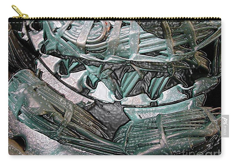 Digital Art Carry-all Pouch featuring the digital art Wound Tight by Ron Bissett