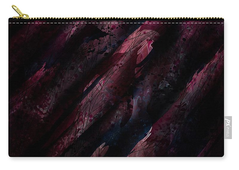Abstract Carry-all Pouch featuring the digital art Wounded Lamb by Rachel Christine Nowicki