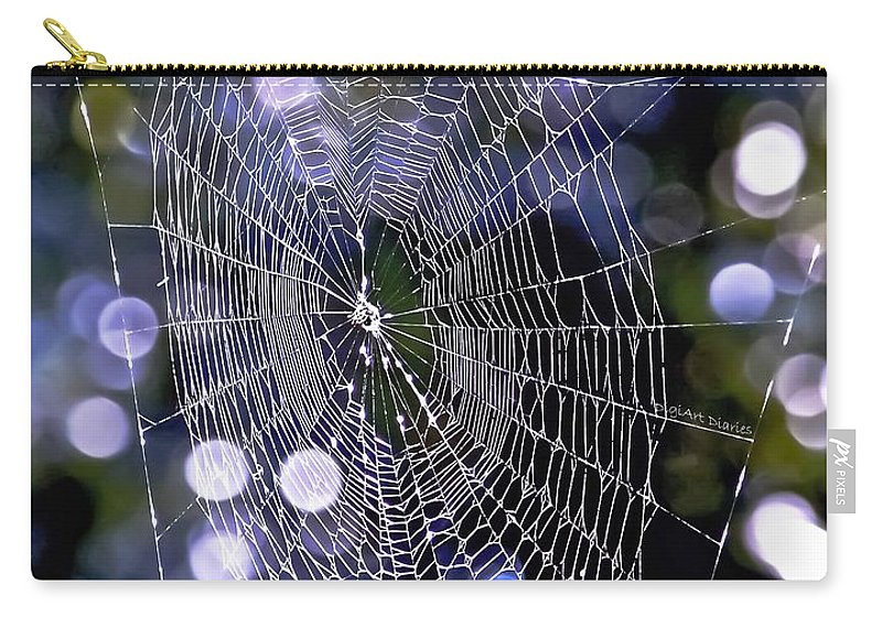 Spider Carry-all Pouch featuring the digital art Woven Devotion by DigiArt Diaries by Vicky B Fuller