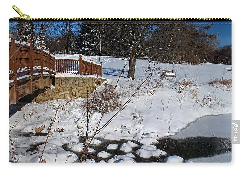 Winter Carry-all Pouch featuring the photograph Woven Soul by Michiale Schneider