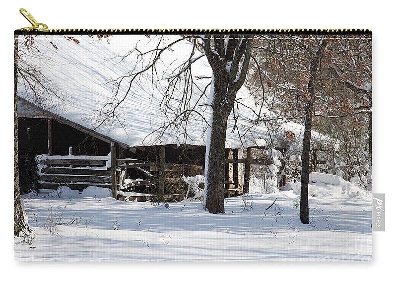Rural Carry-all Pouch featuring the photograph Wrapped In Silence by Amanda Barcon